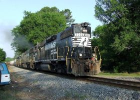 Old School Norfolk Southern by Joseph-W-Johns
