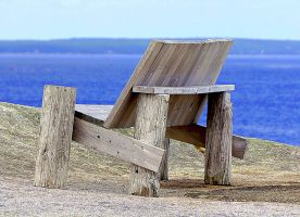seat at the shore by Mittelfranke
