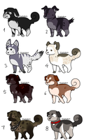 puppy adoptables2 ONE LEFT by CelesticAdopts