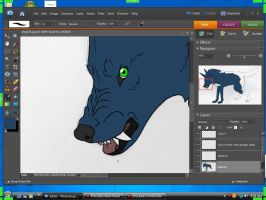 Night Snarl Wip Scrnsht by lucidcoyote