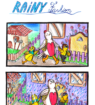 Rainy Fashion - Let's Chicken comic! Number #22 by ellycolor
