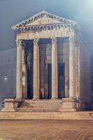 Temple of Roma and Augustus by M-0-N-0