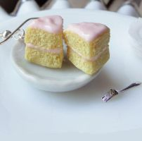 Cake Slice Earrings by fairchildart