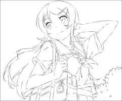 Kirino Vector: Colorable Outline by xTwinVipersx