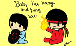 Baby Liu Kang And Kung Lao by ezioauditore115