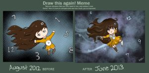 Improvement  August 2012- June 2013 by Thecakeisapotato