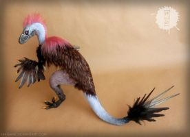 Mrs. Raptor -OOAK Art Doll by hikigane