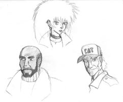 Post-Apoc Character Sketches 2 by good-ol-boy