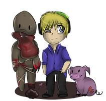 Pewdie and the gang by Mishamutt