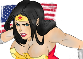 big boobs wonder woman  c: by illusartion