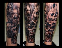skullz leg sleeve by eminimal