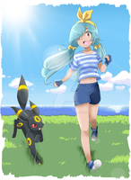 [CM] Seiko and Umbreon by SkyDrew
