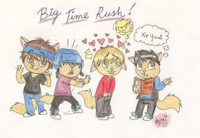 Big Time Rush as HTF by Lucy-BiggerHTF