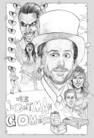 The Nightman Cometh Drawing by FlammablePerson