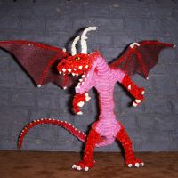 Flame Dragon Figure III by the-gil-monster