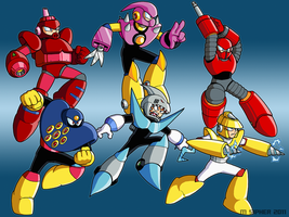Power On - MegaMan 3 PC Bosses by MSipher