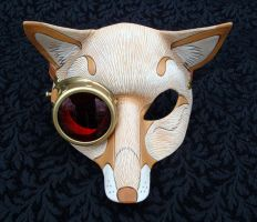 CogMonocle Blond Fox Mask by merimask