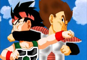 kid bardock vs kid king vageta by shadow-roxas