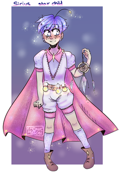 Starchild Sirius New OC (he's precious to me) by Ironic-Melon