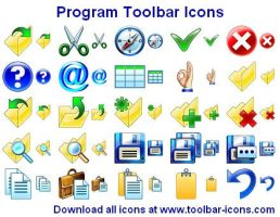 Program Toolbar Icon Set by shockvideoee