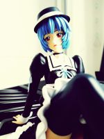 Ayanami Rei  GothLoli Noir Ver. With Hat by xKiiro-me