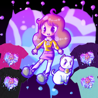 Bee and Puppycat - Aqua Dream T-shirt by TigerLillyKitty