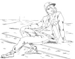 chilling by pain16