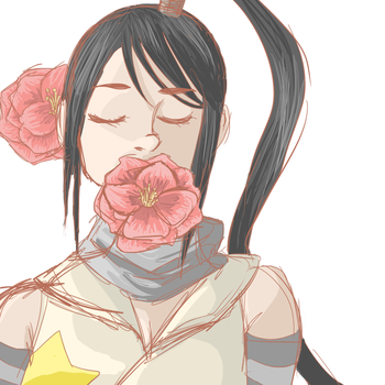 31- Flower-Tsubaki The flower with fragrance by RaenyBoots