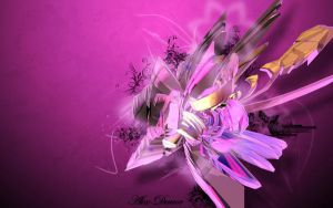 C4D Abstract Wallpaper by Alex-Denvor