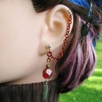 Messenger's Feather Earring by merigreenleaf