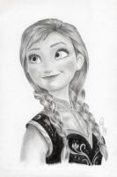 Anna Frozen Graphite drawing by Wazche
