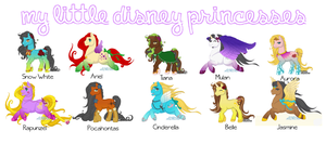 My Little Disney Princesses by blaiseastra
