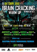 Brain Cracking WarmUp flyer by psychodiagnostic