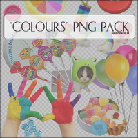 18 'Colours' Png Items. by mylightbluesky