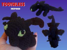 Toothless-Inspired Dragon by Amaze-ingHats