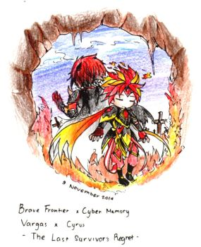 Brave Frontier x Cyber Memory - fire by Virtous01