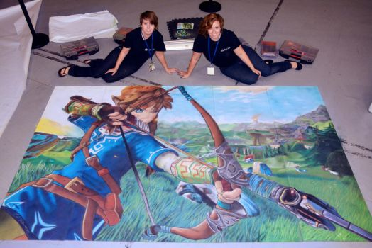 Link and Artists by ChalkTwins