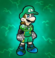Luigi Charged by Nintendrawer