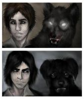 Moony and Padfoot by MissEgypt