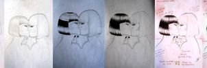 Evolution of a Kiss by Izzy95