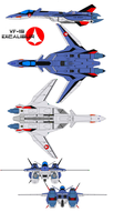 VF-19 Excalibur eagle one by bagera3005