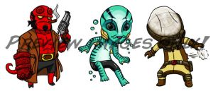 HellBoy Chibis by Red-Flare