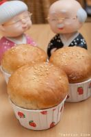 Red bean bun 1 by patchow