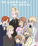 APH- Little EU and the Inner Six by SmartasticalArt