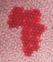 Beaded map of Africa by Anabiyeni