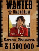 Gokai Red Wanted Poster by ZanderYurami