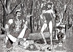 Commission Heroines In Trouble 01 - Jungle Bondage by leandro-sf