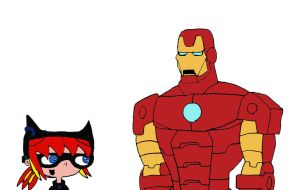 The Night Claw and Iron Man by RocketSonic