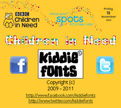 Children in Need Font by Kiddiefonts