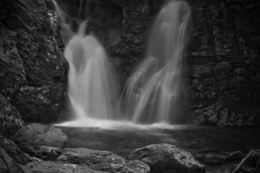 Copake Falls BW 6 by StephenMPhotography